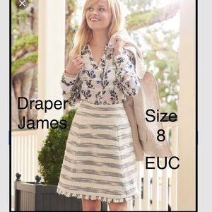 Draper James cheekwood tweed skirt 8